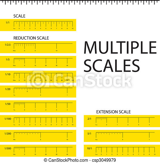 Multiple scales metric ruler - csp3049979