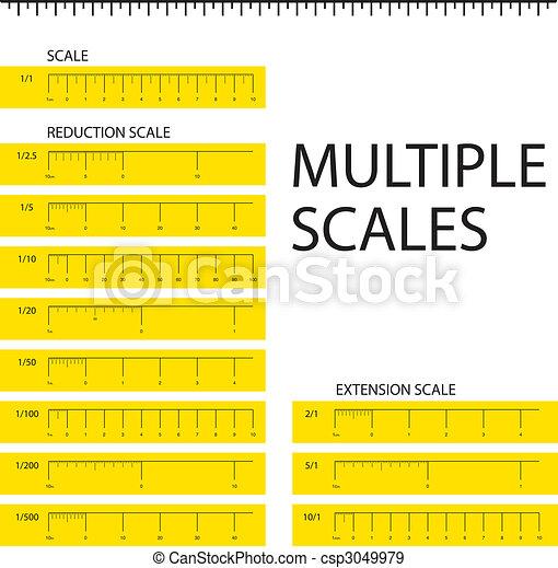 Multiple scales metric ruler - csp3049979
