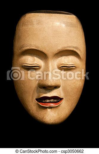 Ko-Kasshiki (young servant) Noh mask - csp3050662