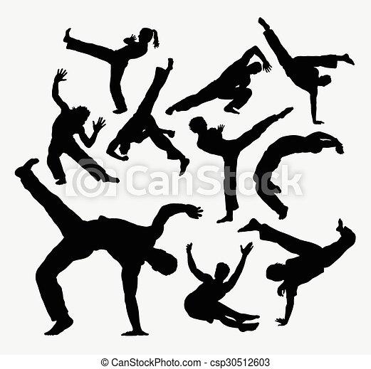 Resultado de imagen de capoeira siluetas