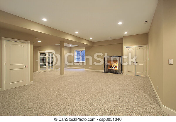 Basement in new construction home - csp3051840