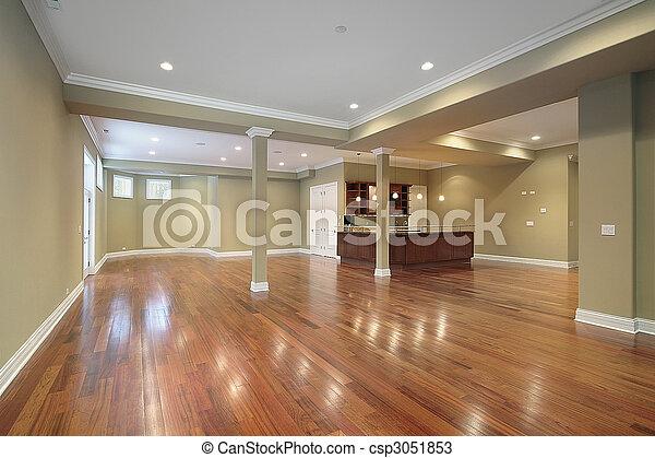 cozinha, lar, construção, Novo, porão - csp3051853