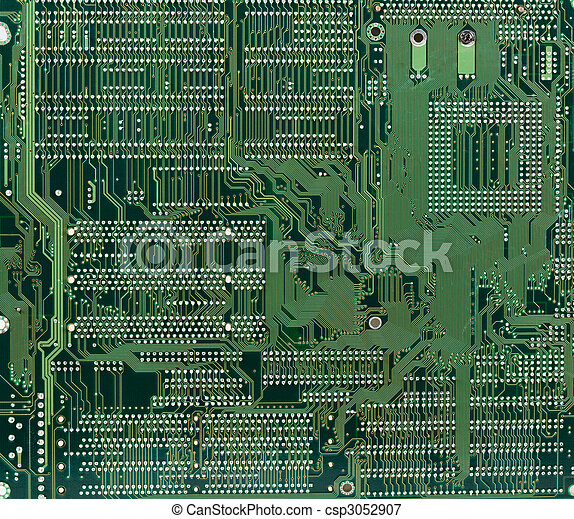 Technological industrial abstract background in green color - csp3052907
