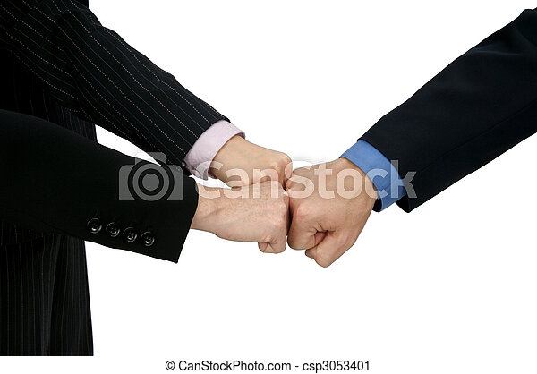 Stock Photo - Teamwork Knuckle Bump - stock image, images, royalty ...