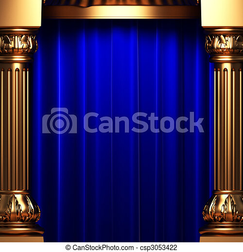 Curtains Ideas blue and gold curtains : Deep blue stage curtain Stock Photos and Images. 83 Deep blue ...