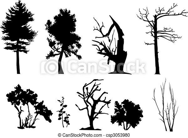 Tree vector silhouettes - csp3053980