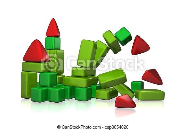 collapsing castle - csp3054020
