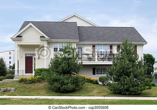 Townhouse in suburbs - csp3055608