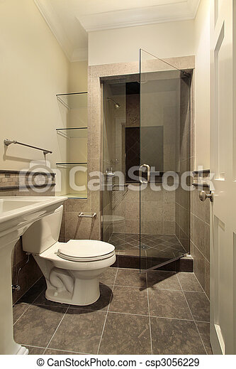 Bathroom with shower - csp3056229