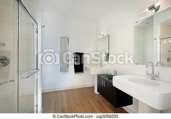 Master bathroom in condominium - csp3056230