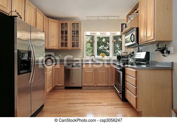 Kitchen in luxury home - csp3056247