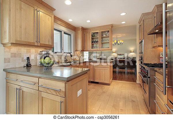 Photographies de cuisine ch ne bois lambris cuisine luxe maison cs - Lambris chene massif ...