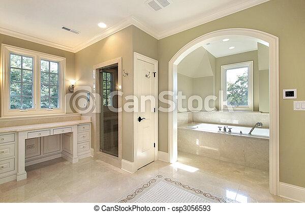 Master bath with separate bath - csp3056593