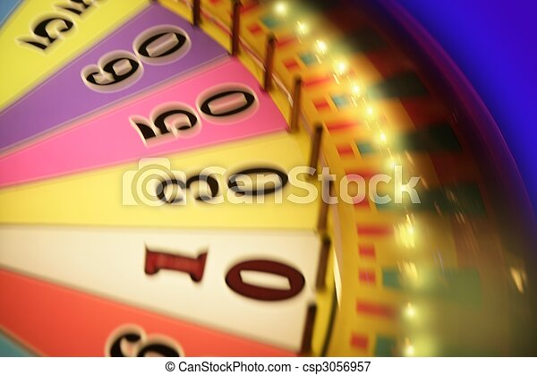 Blurry colorful glow gambling roulette - csp3056957