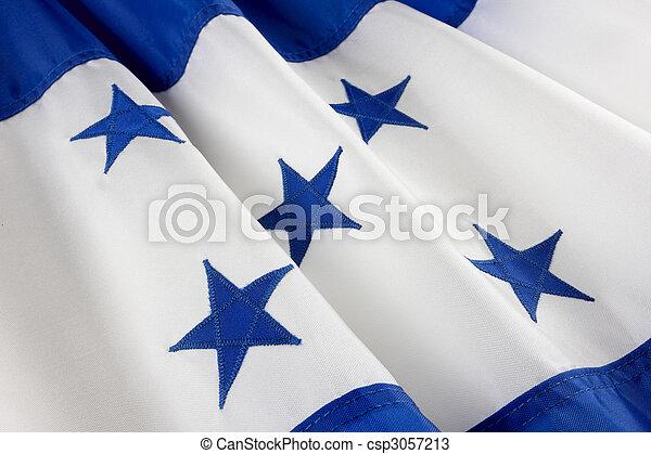 Macro shot of Honduran flag - csp3057213