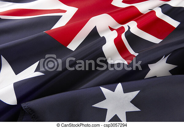 Macro shot of Australian flag - csp3057294