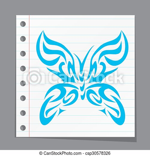 abstract butterfly - csp30578326