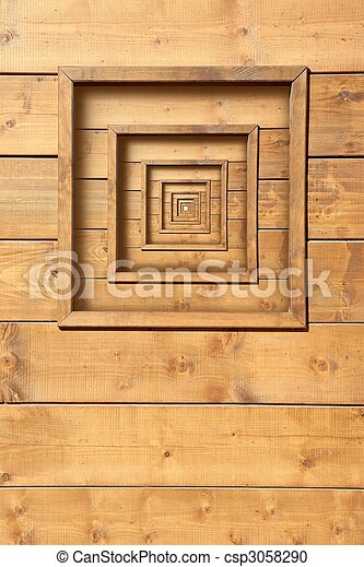 psychedelic wooden window zoom concentric - csp3058290