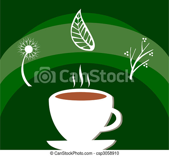 Herbal tea label - csp3058910