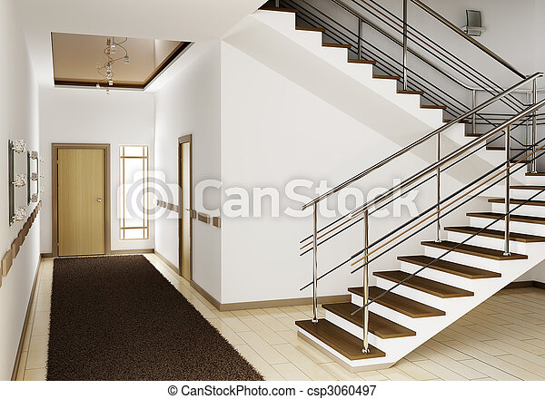 Photo int rieur escalier 3d image images photo for Escalier moderne interieur