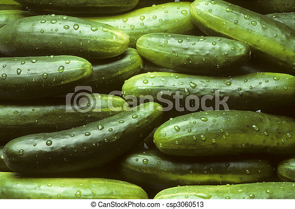 A pile of fresh cucumbers - csp3060513