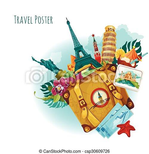 Landmarks Travel Background - csp30609726