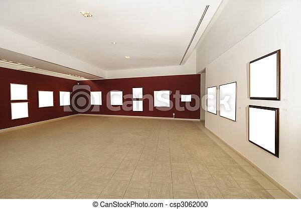 キャンバス, 芸術, スペース, 現代, ブランク, ギャラリー - csp3062000