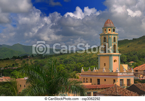 Trinidad cityscape, cuba - csp3062292