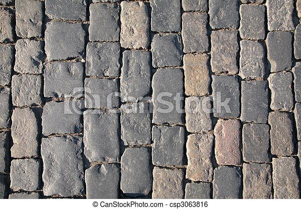 Cobblestone road - csp3063816