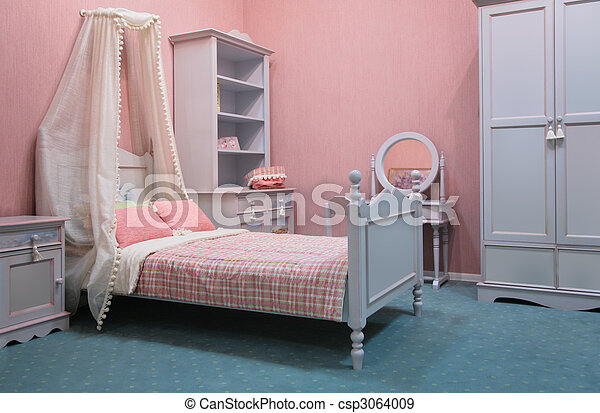 Old-fashioned bedroom - csp3064009