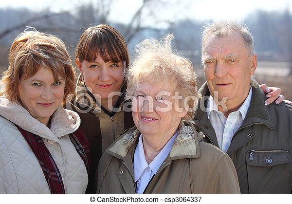 Three generations of one family - csp3064337