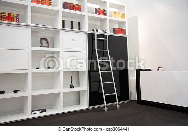 room with book cabinet - csp3064441