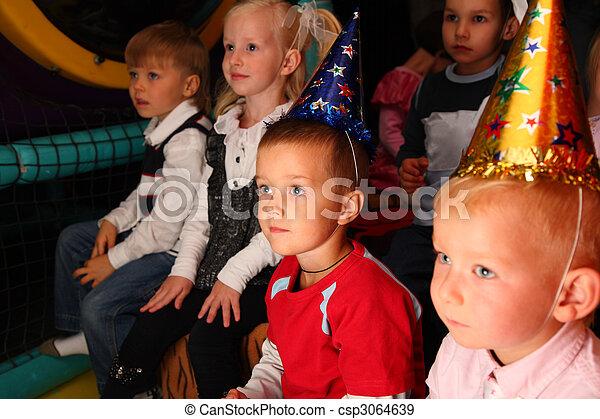 Children on holiday in kindergarten - csp3064639