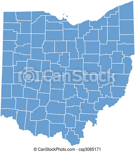 ohio state map - csp3065171