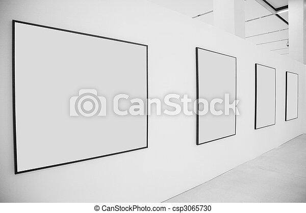 Frames  exhibition hall - csp3065730