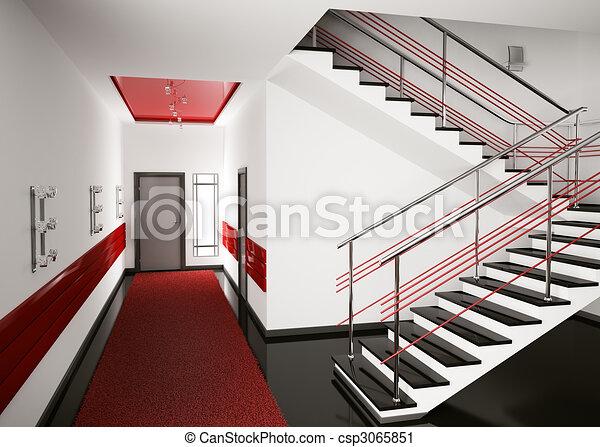 Hall 3d render - csp3065851