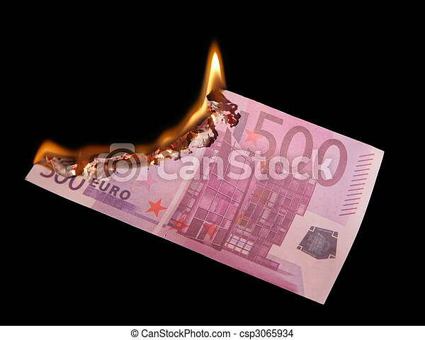 Burning five hundred Euros - csp3065934