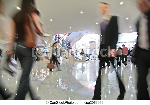 Movement in business center - csp3065956