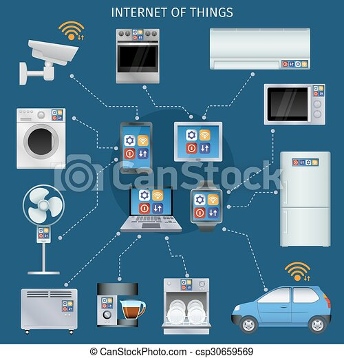 Internet of things infographic icons set - csp30659569
