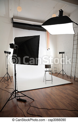 Photographic studio interior - csp3066090