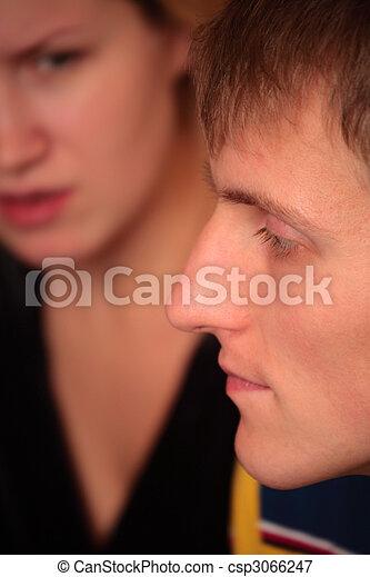 couple faces quarrel - csp3066247