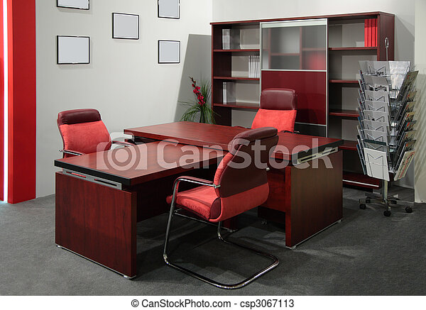 photos de bureau patron rouges office de patron csp3067113 recherchez des images des. Black Bedroom Furniture Sets. Home Design Ideas