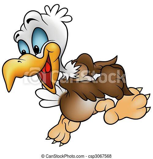 Walking Bald Eagle - csp3067568