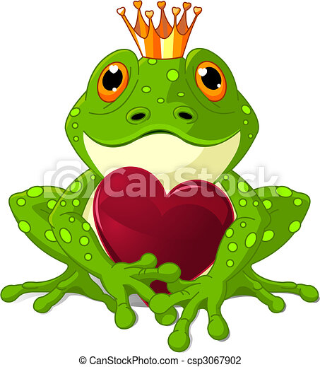 Frog with heart - csp3067902