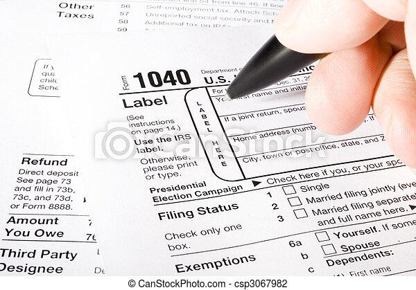 1040 Tax Form - csp3067982