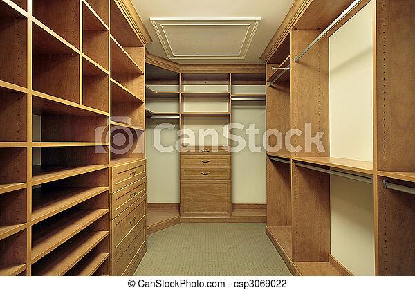 Photo de maître, placard, chambre à coucher - Large, maître ...