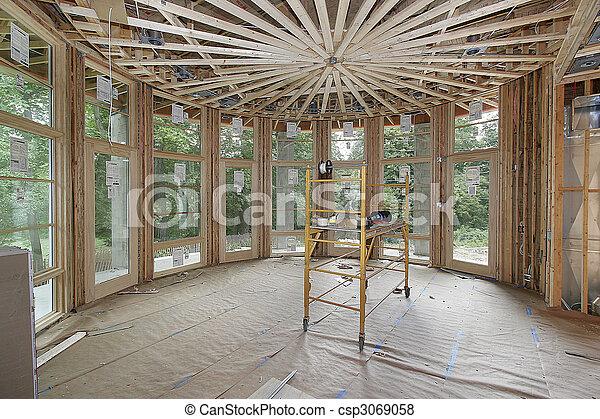 Luxury home under construction - csp3069058