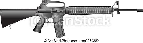 machine gun M16 A2.  - csp3069382