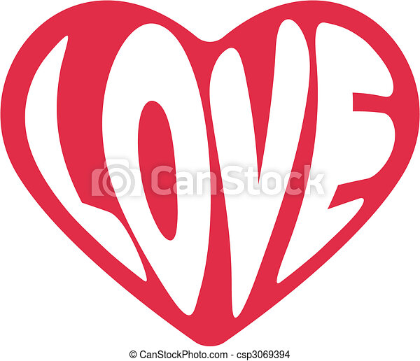 decorative vector heart for Valentines day - csp3069394