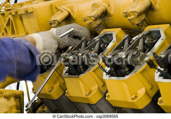 Large engine maintenance II - csp3069565
